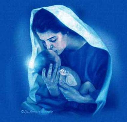 Молодая Мать только вступила на путь материнства.  Держа малыша на руках и улыбаясь, она задумалась...